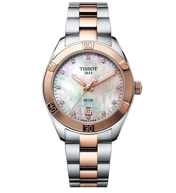 Tissot PR100 Sport Lady Diamonds